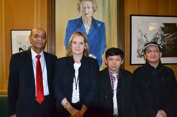 L-R, Mushtaq Lasherie, Ambur Rudd, Sadiq Noyan and Liaquat Ali Hazara