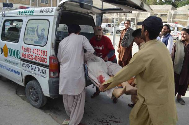 (Meezan Chowk Incident - A Dead Body Being Shifted To Hospita)l